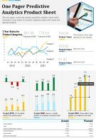 One Pager Predictive Analytics Product Sheet Presentation Report PPT PDF Document