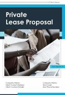 One Pager Private Lease Proposal Template