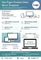 One Pager Product Data Sheet Template Presentation Report Infographic PPT PDF Document
