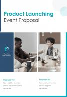 One Pager Product Launching Event Proposal Template