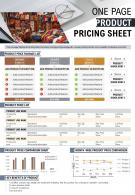 One Pager Product Pricing Sheet Presentation Report Infographic Ppt Pdf Document