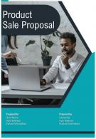One Pager Product Sale Proposal Template