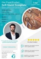 One Pager Product Sell Sheet Template Presentation Report Infographic PPT PDF Document