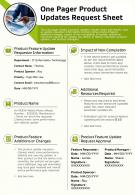 One Pager Product Updates Request Sheet Presentation Report Infographic PPT PDF Document