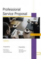 One Pager Professional Service Proposal Template