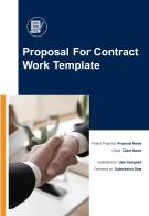 One Pager Proposal For Contract Work Template