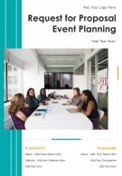 One Pager Request For Proposal Event Planning Template