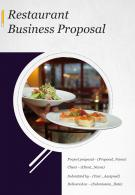 One Pager Restaurant Business Proposal Template