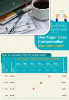 One Pager Sales Compensation Plan Document Presentation Report Infographic PPT PDF