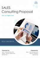 One Pager Sales Consulting Proposal Template
