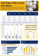 One Pager Sales Team Fact Sheet Presentation Report Infographic PPT PDF Document