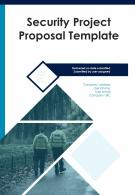 One Pager Security Project Proposal Template