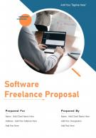 One Pager Software Freelance Proposal Template
