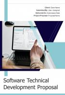 One Pager Software Technical Development Proposal Template