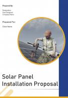 One Pager Solar Panel Installation Proposal Template
