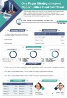 One Pager Strategic Income Opportunities Fund Fact Sheet Presentation Report Infographic PPT PDF Document