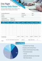 One Pager Survey Datasheet Presentation Report Infographic PPT PDF Document