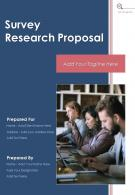 One Pager Survey Research Proposal Template