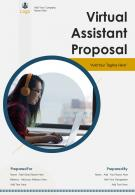 One Pager Virtual Assistant Proposal Template