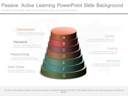 One Passive Active Learning Powerpoint Slide Background