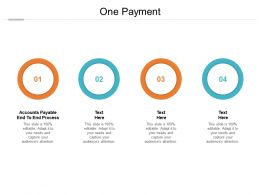 One Payment Ppt Powerpoint Presentation Icon Design Inspiration Cpb
