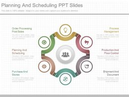 One Planning And Scheduling Ppt Slides