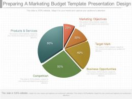One Preparing A Marketing Budget Template Presentation Design