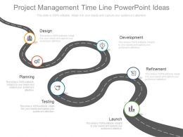 One Project Management Time Line Powerpoint Ideas