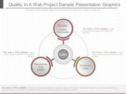 One Quality In A Web Project Sample Presentation Graphics