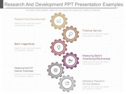 One Research And Development Ppt Presentation Examples