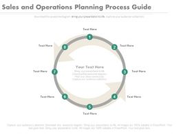 one Sales And Operations Planning Process Guide Cycle Powerpoint Slides