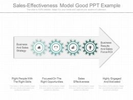 One Sales Effectiveness Model Good Ppt Example