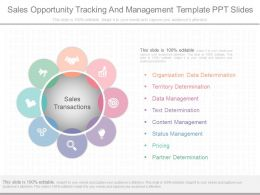 One Sales Opportunity Tracking And Management Template Ppt Slides