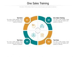 One Sales Training Ppt Powerpoint Presentation Portfolio Design Inspiration Cpb