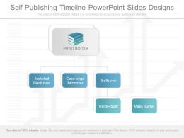 One Self Publishing Timeline Powerpoint Slides Designs