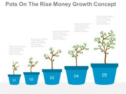 one Sequential Financial Growth Indication Chart Flat Powerpoint Design