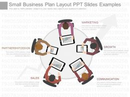 One Small Business Plan Layout Ppt Slides Examples