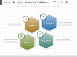 One Social Marketing Analysis Illustration Ppt Sample
