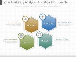 one_social_marketing_analysis_illustration_ppt_sample_Slide01