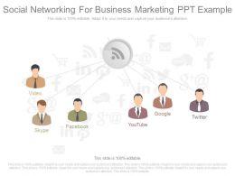 One Social Networking For Business Marketing Ppt Example