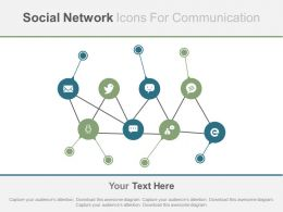 one Social Networking Icons For Communication Flat Powerpoint Design