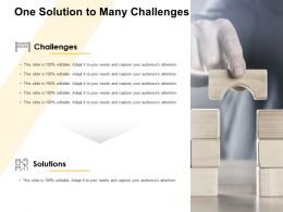 One Solution To Many Challenges Audiences Attention Ppt Powerpoint Presentation Icon Vector