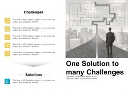 One Solution To Many Challenges Maze Ppt Powerpoint Presentation Model Picture