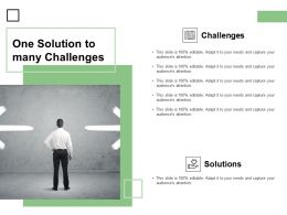 One Solution To Many Challenges Opportunities Ppt Powerpoint Presentation Infographics Designs