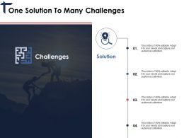 One Solution To Many Challenges Ppt Portfolio Gallery
