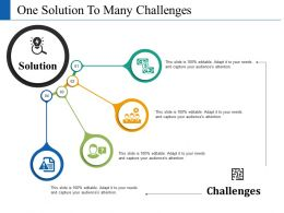 One Solution To Many Challenges Ppt Slides Designs Download