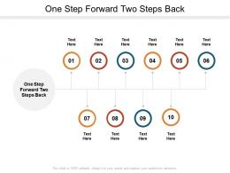 One Step Forward Two Steps Back Ppt Powerpoint Presentation Icon Samples Cpb