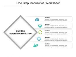 One Step Inequalities Worksheet Ppt Powerpoint Presentation Infographic Template Graphics Design
