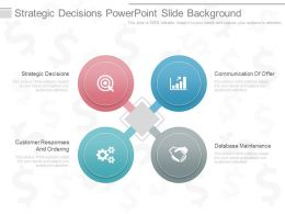 One Strategic Decisions Powerpoint Slide Background
