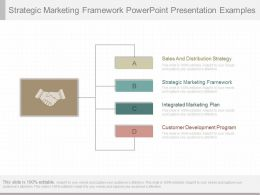 One Strategic Marketing Framework Powerpoint Presentation Examples